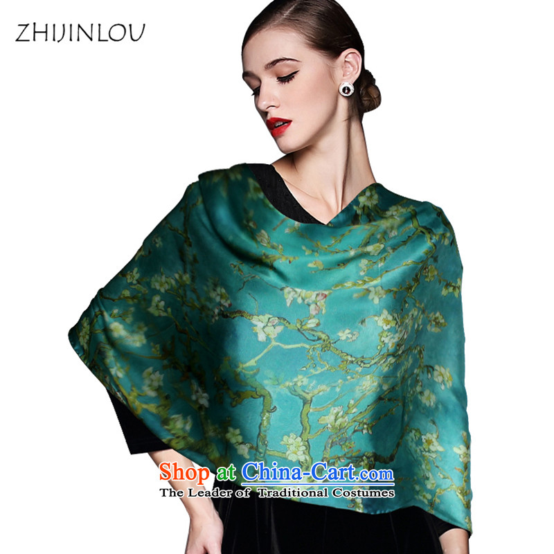 Tapestries floor flagship store silk scarves female long herbs extract Fancy Scarf Fragrance Float