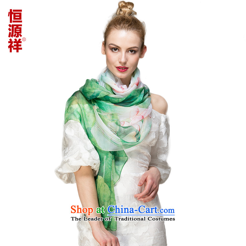 Hengyuan Cheung silk scarf upscale silk scarfs wild herbs extract spring and autumn, silk scarves long shawl 100 herbs extract sunscreen 10#ZS8068 170*110 Masks