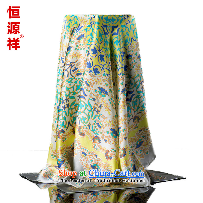 Hengyuan Cheung silk scarf upscale silk scarfs Ms. wild herbs extract spring and autumn, classy and towel silk scarves herbs extract 7#ZS8023 110*110 100%