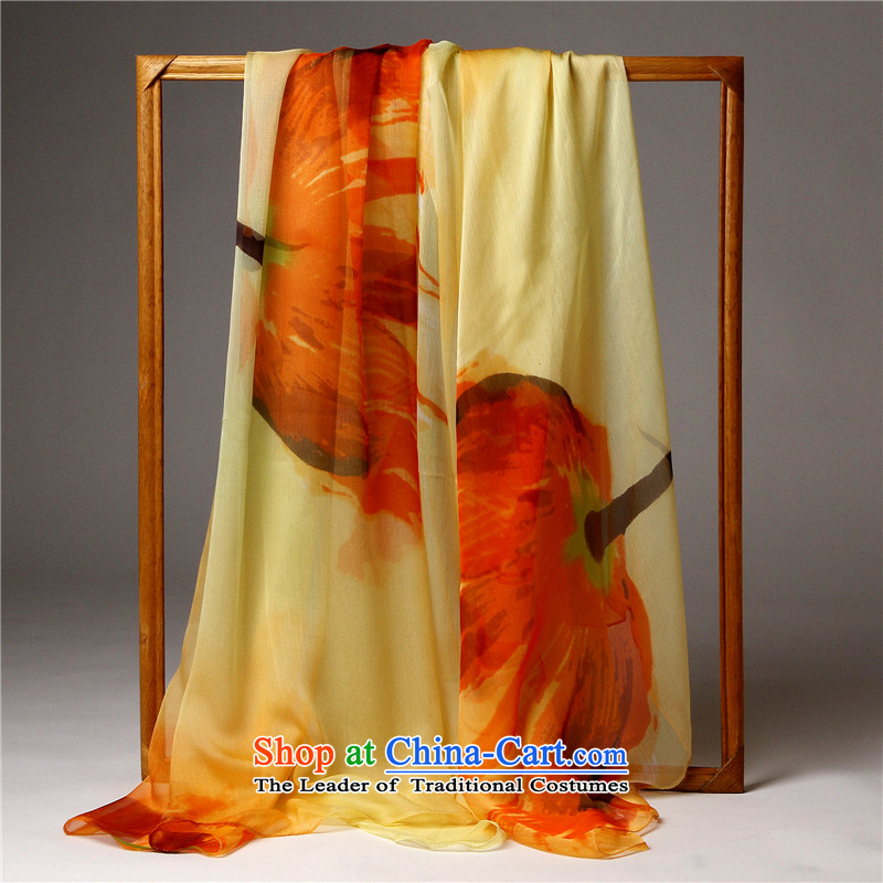Barbara Wist 2015 Spring_Summer stamp silk scarf herbs extract silk scarf shawl women long silk chiffon long beach towel air-conditioning towel decorated wild towel silk scarf autumn recalled that