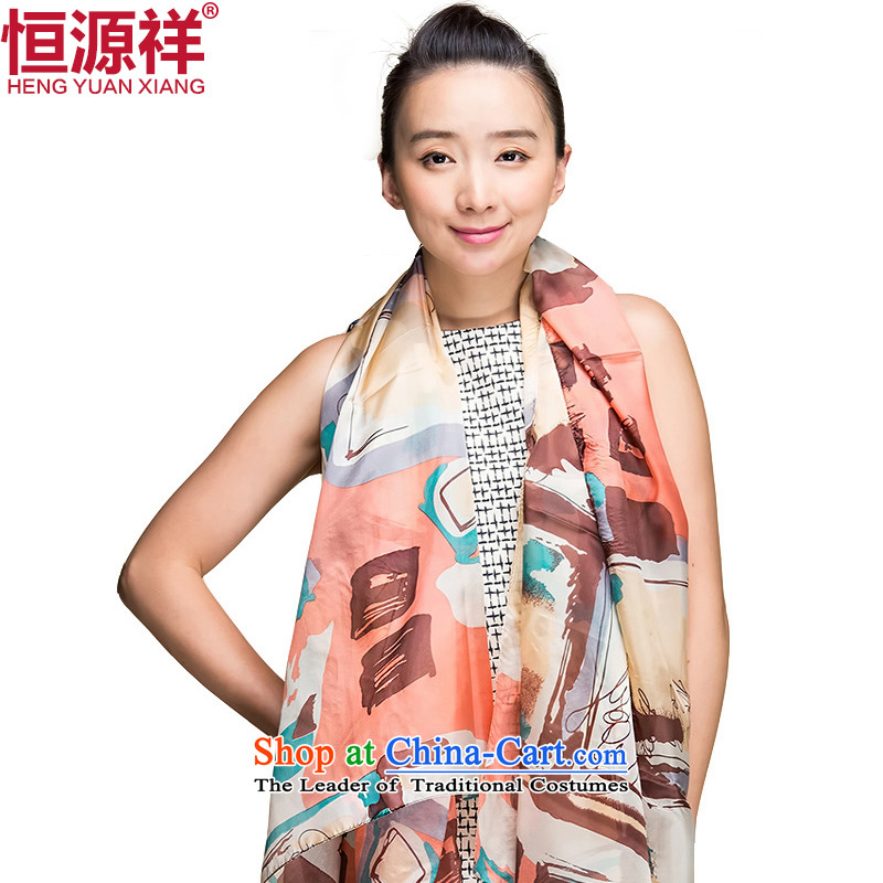 Ms. Cheung Hengyuan silk scarves long herbs extract scarf snow spinning towel autumn and winter large shawl聽42_4313