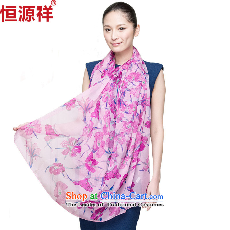 Ms. Cheung Hengyuan silk scarves herbs extract spring and fall of the scarf female long snow spinning towel oversized shawl聽D1401-3_ spring