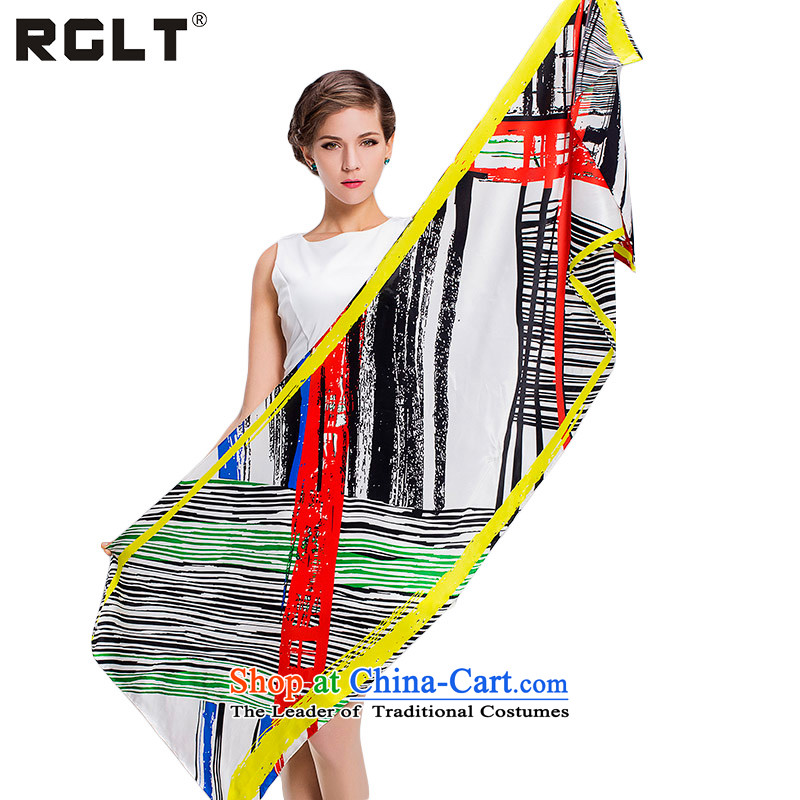 The spring and summer of 2015, Europe and the RGLT Ms. wind silk scarves stylish geometric patterns stamp sauna silk scarves long towel Fancy Scarf home on a router