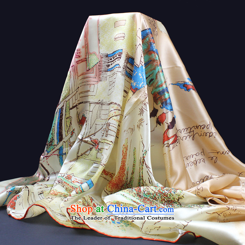 D Li Rui pure silk scarves ad beach towel shawl 100 herbs extract scarf satin silk and classy towel orange the story of a small town