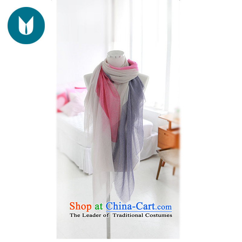 The United States, Land Law, 2015 Spring_Summer silk scarf arts small fresh thin, stitching spell color stripe knocked shawl cotton scarf rose red
