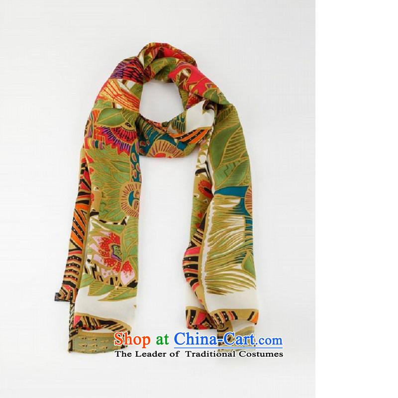 The WTO QAEDA SKTautumn 2015 new silk scarves, 100% herbs extract shawl scarf autumn and winter decorated with warm-ups21 - the beasts of the figure165*45 White
