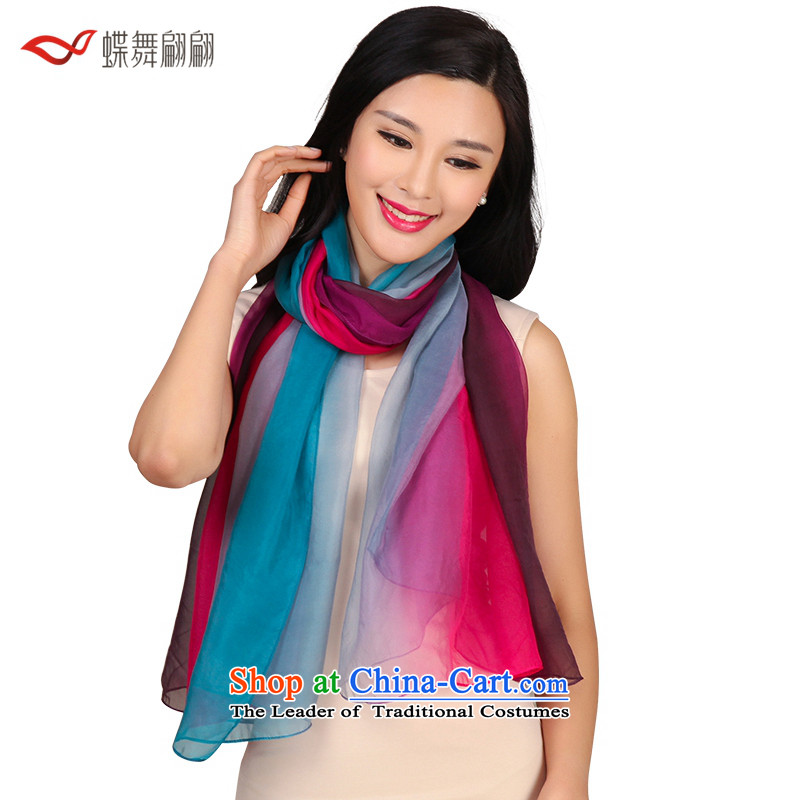 The Butterfly Dance medley of silk spinning mixed towel female autumn scarf wild shawl large size better red