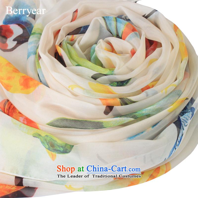 Upscale berryear silk scarf silk scarfs Korean wild herbs extract silk scarf female spring and autumn long silk scarf shawl 200*65CM standard