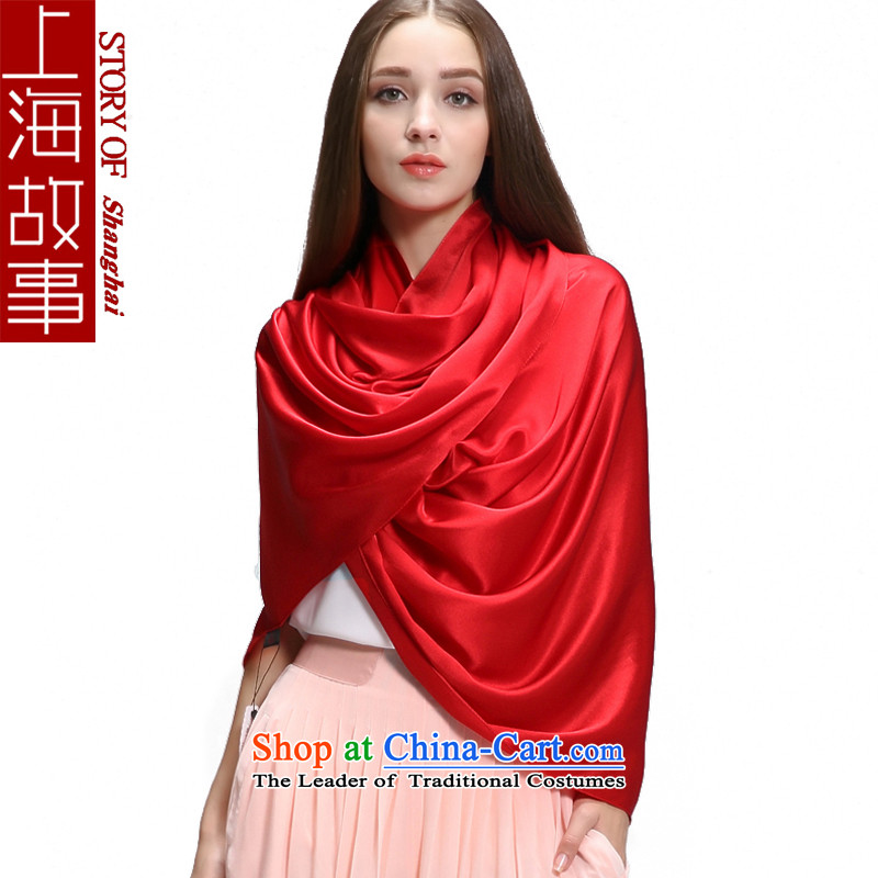 Shanghai Story silk scarves female long solid color scarf winter shawl a herbs extract of the migration of the Red