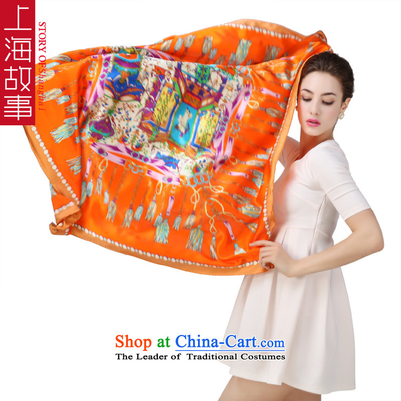 Shanghai Story 2015 Spring/Summer herbs extract new silk scarf of silk scarf and classy damask shawl Paris impression