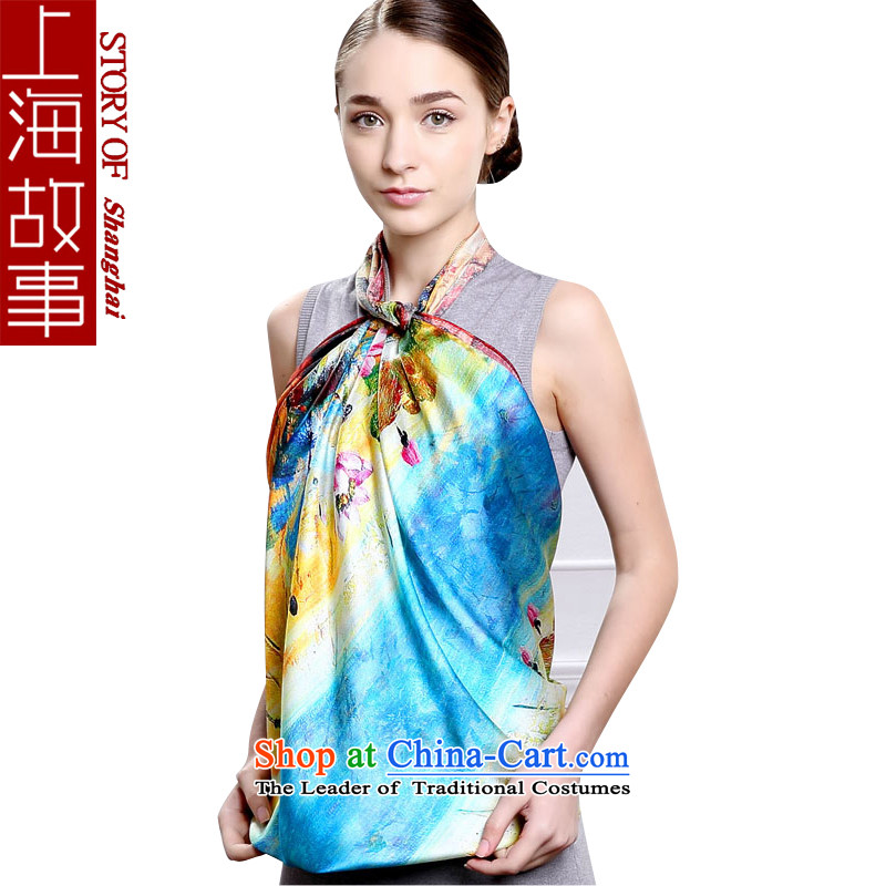 Shanghai Story silk scarves large shawl scarf and classy towel masks in the Winter Female Lotus Pond