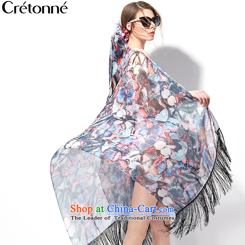 The new 2015 stream cretonne su silk scarf butterfly spring and summer shawls stamp sunscreen resort beach towel wild swimsuit 008 red butterfly stamp