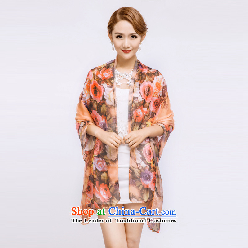 The guest in theautumn and winter 2015 new silk scarves, sauna also silk scarf shawl three color masks in the style of the rose 1 wide 150CM* 180CM long