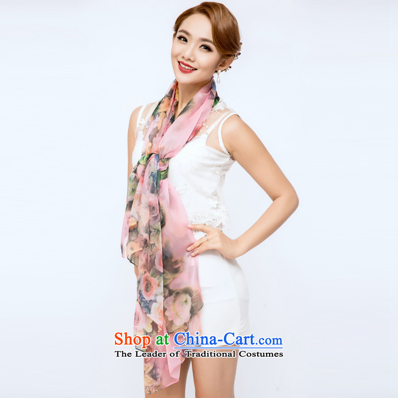 The guest in theautumn and winter 2015 new silk scarves, sauna also silk scarf shawl three color masks in the style of the rose 3 Width 180CM long 150CM*
