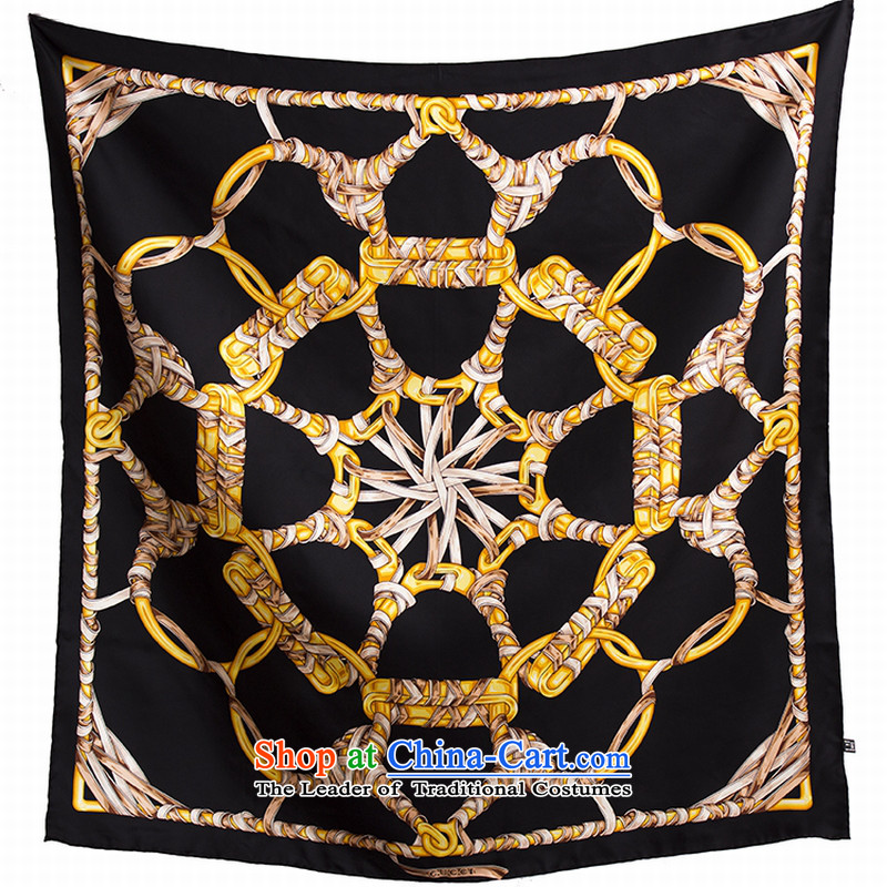 Herbs extract silk twill silk scarves scarves, 90 and classy towel shawl black