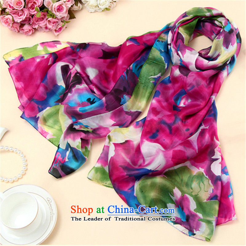 The autumn and winter, the mandatory increase silk spinning Yang widen the towel herbs extract ultra-wide ultra long Scarf by red orchid are code