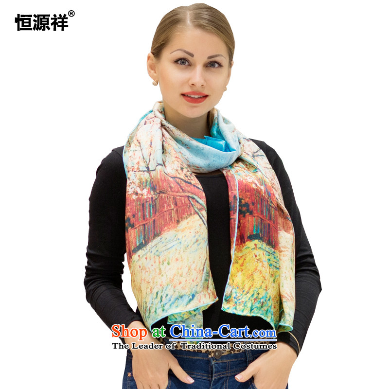 Ms. Cheung Hengyuan upscale silk scarves170*50cmsummer sunscreen air-conditioning herbs extract beach towel scarves with long two digital inkjet521#