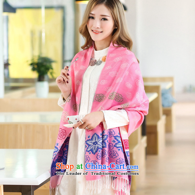 2015 new president scarf of autumn and winter two super long scarf Korean wild jacquard shawl WC19 office pink are code