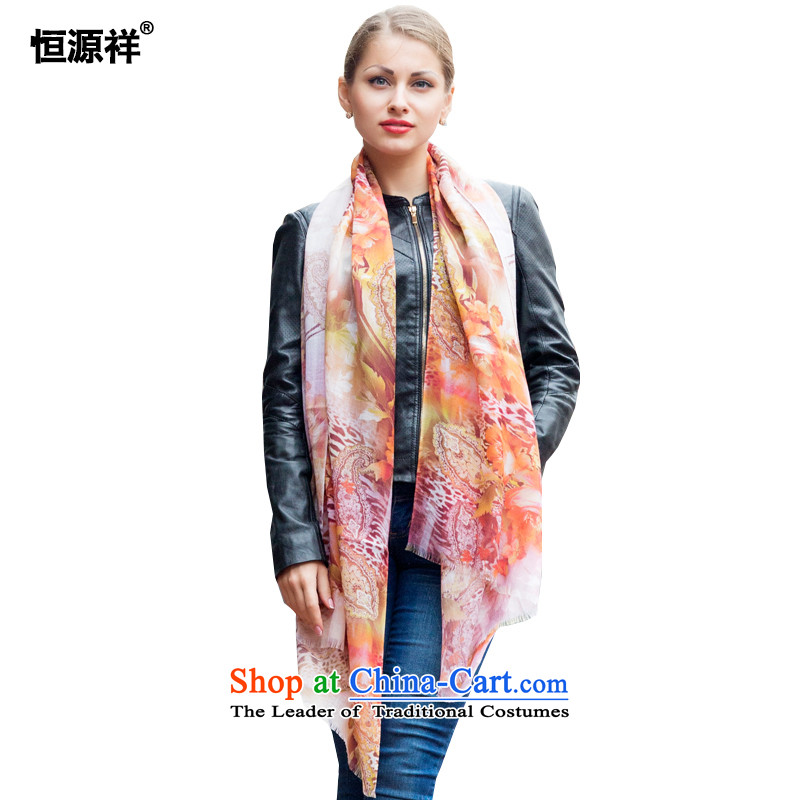 Ms. Cheung Hengyuan wooler scarf digital inkjet printing wool a shawl with the length of the two girls, autumn and winter wild ) 12234-5#