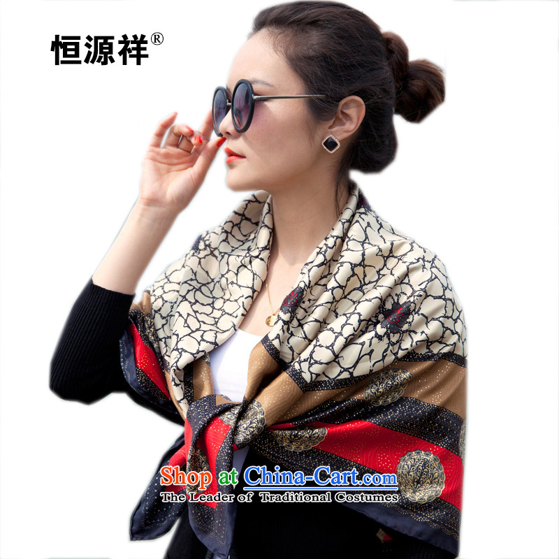 Hengyuan Ms. Cheung silk scarf upscale and classy towel_silk scarf stylish ironing Kim So as the classy and stylish towel temperament sunscreen silk scarf FS213_ m White