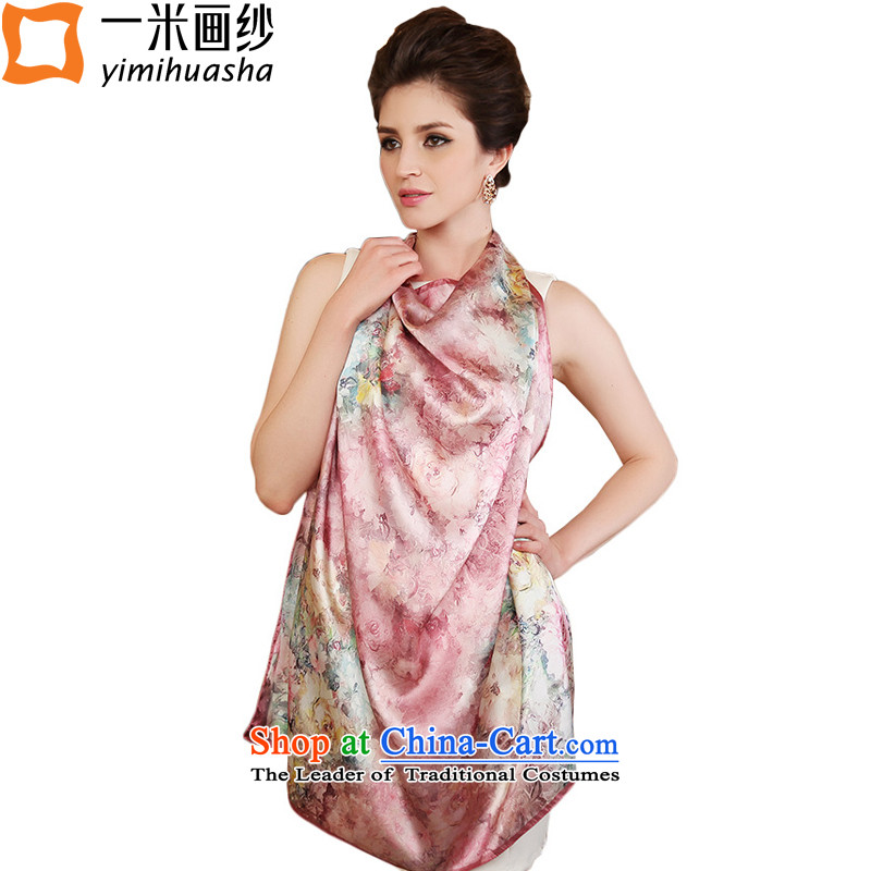 One meter high silk scarf drawn by the Jurchen people silk scarves herbs extract spring and autumn and the new towels6# color