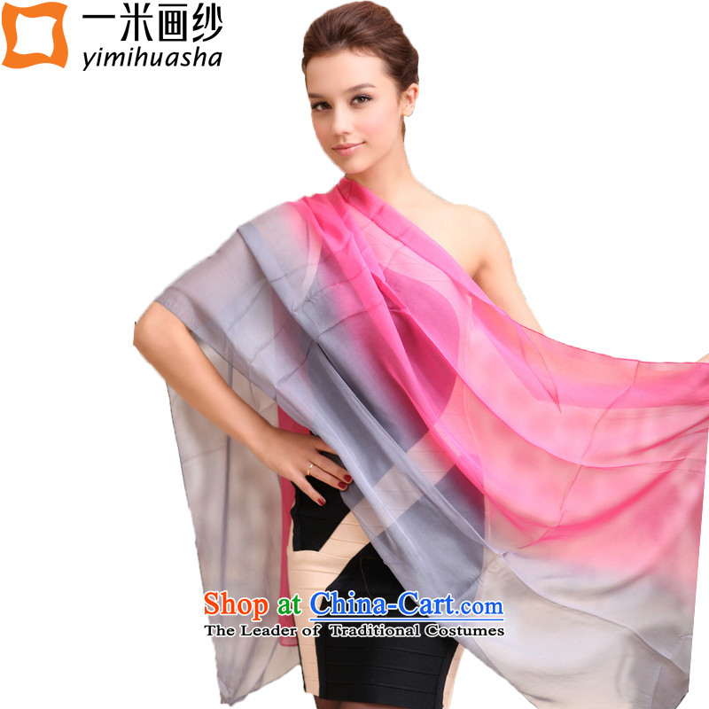 One meter animation yarn silk scarf pure color gradient herbs extract silk chiffon Ms. Long Fancy Scarf nansan color