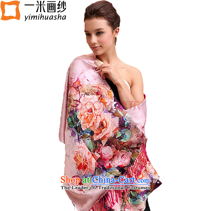 One meter from the spring and autumn new picture of silk scarves scarf thick long double brushed silk scarf shawl10 Color