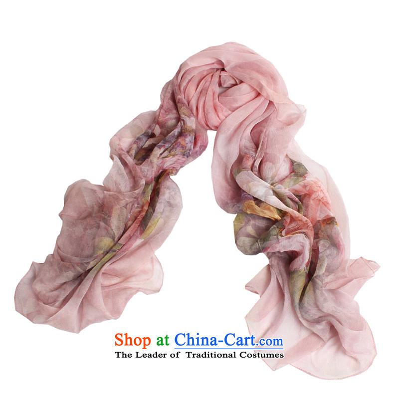 Shanghai Story summer herbs extract new silk scarf 100% silk shun felt Joe creases ultra-thin women cape passion Blossoms