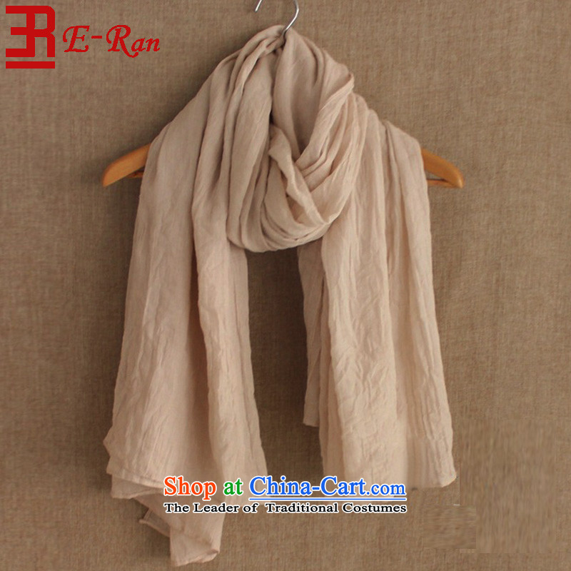 Fourth quarter Washed pure eran2015 cotton linen arts van retro leisure pure color-grown up Fancy Scarf beach shawl m White