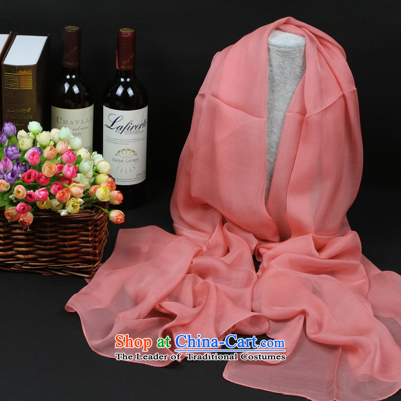 The new 100 herbs extract silk scarf scarf autumn and winter long silk scarf beach towel sunscreen silk scarves scarf Pink