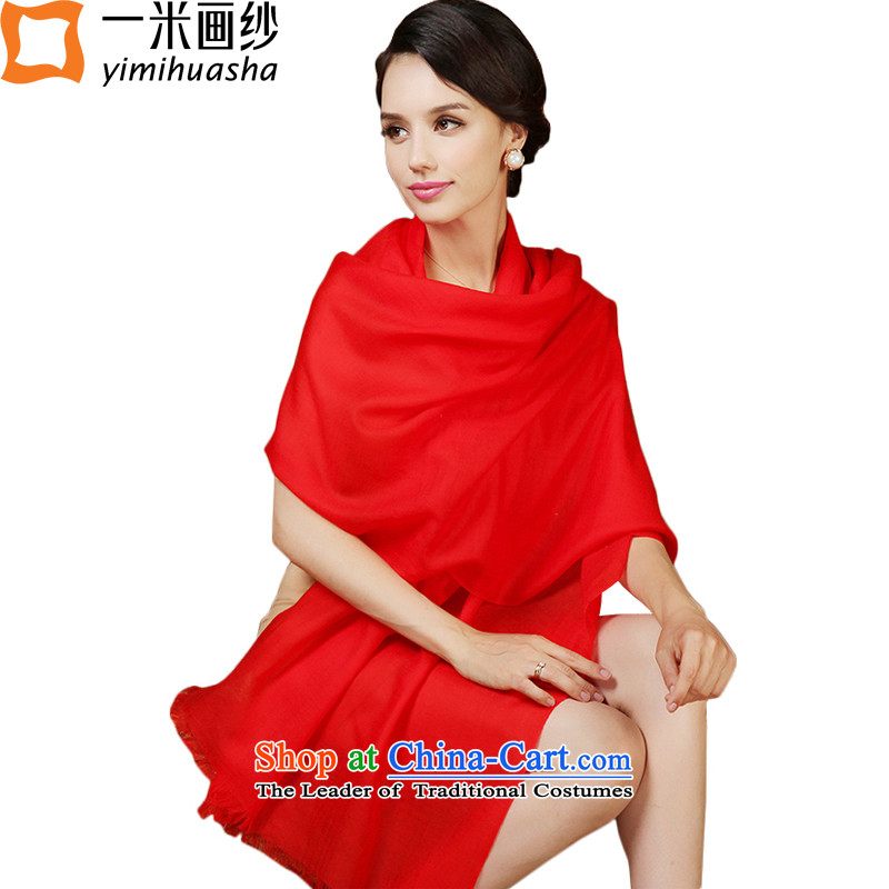 One meter picture of autumn and winter new extralong 120 pixel color woolen scarves female Red