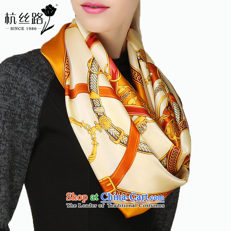 Silk scarves and classy towel female shawl herbs extract upscale scarves Chao Silk Road Huang - Distinguished