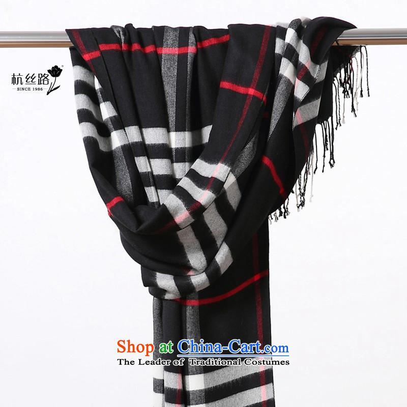 The end of the scarf air-conditioning shawl female summer latticed western van warm spring silk road branded black tartan