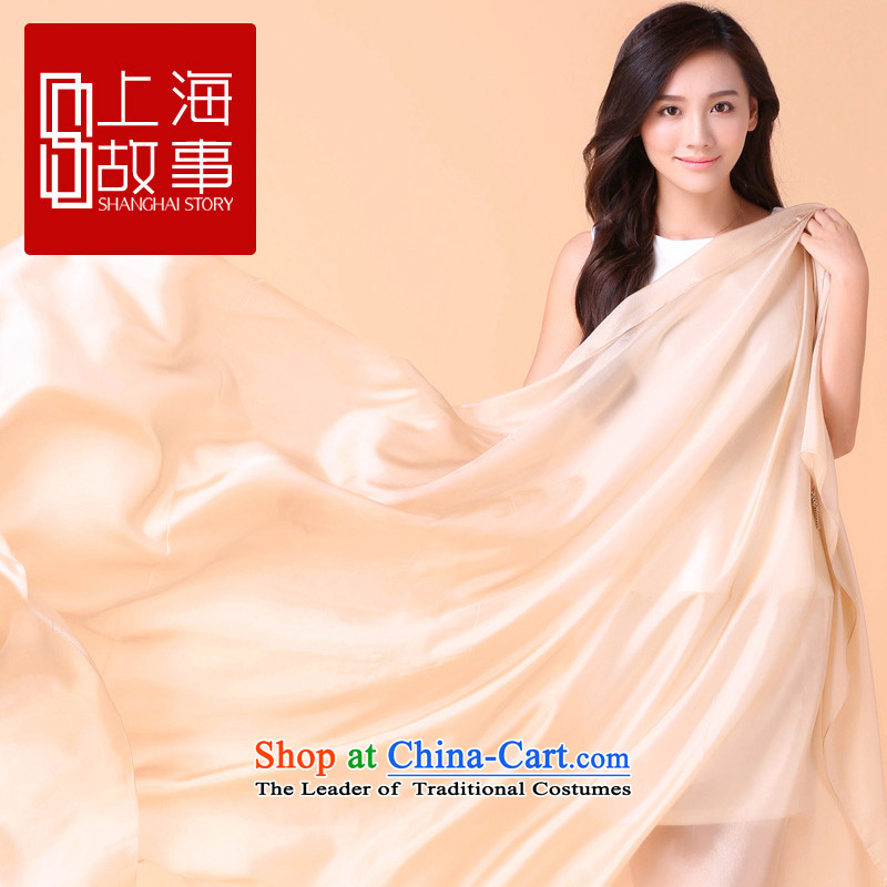 Shanghai Story silk scarves women during the spring and autumn summer long, Solid Color wild herbs extract sunscreen shawl scarf innocence innocence - Shanghai story beige 178*90cm, STORY IN SHANGHAI) , , , shopping on the Internet