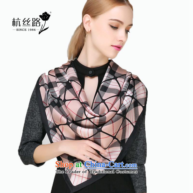 Silk twill silk scarf and classy Classic Grid stamp silk scarf/genuine silk scarf Hangzhou Classic Grid