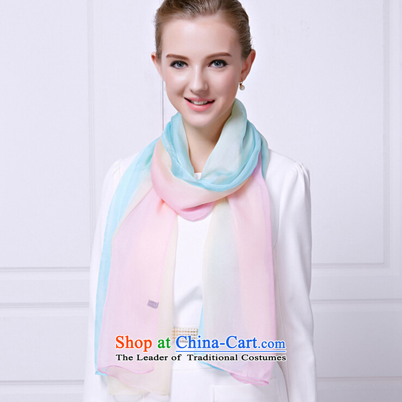 Shanghai Story counters 2015 new gradient silk scarves, herbs extract upscale scarves summer air-conditioning shawl blue gradient of pink Shanghai Story STORY & shanghai) , , , shopping on the Internet