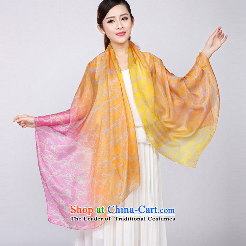Shanghai Story 2015 New Silk ocean woven silk scarf Ms. stamp herbs extract large size sunscreen shawl 4#