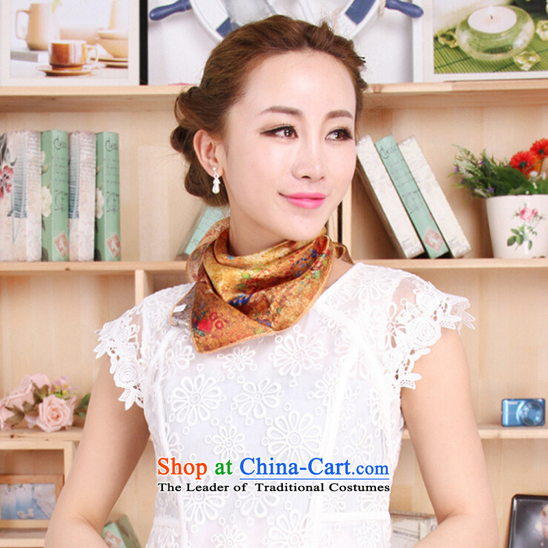 Shanghai Story 2015 New Silk small square cloths, herbs extract upscale satin small square cloths vocational gift silk scarf1#