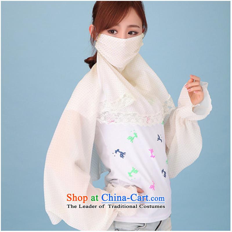 Summer cycling is sunscreen shawl masks silk scarf long-sleeved shirt air-conditioning sunscreen chiffon shawl female UV Kim point m Yellow Lace