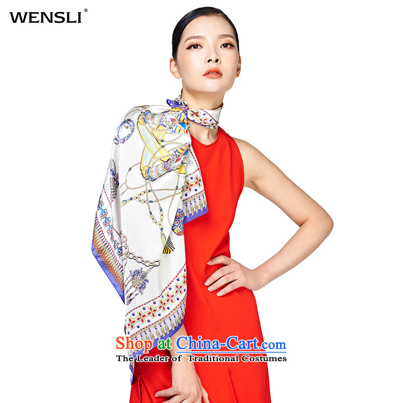 Wensli silk scarf herbs extract silk scarf silk scarf and classy summer shawl girl to the south of the Choi Wan Choi Wan to the south of the Purple
