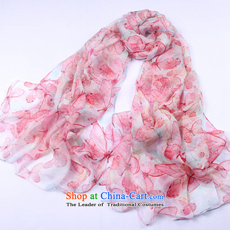Shanghai Story summer ultra-thin silk scarves Ms. sauna large size air-conditioning shawl silk digital inkjet gift scarf Butterfly Dance Medley
