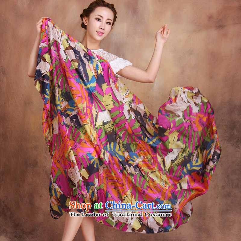 Shanghai Story new stylish herbs extract Ms. scarves summer specifications ocean woven stamp sunscreen shawl 2#