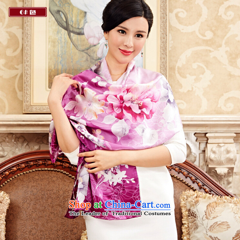 Shanghai Story new upscale of herbs extract Zou Satin Poster Scarf Silk Air-conditioning shawl, corporate purchasing gift Scarf 6#