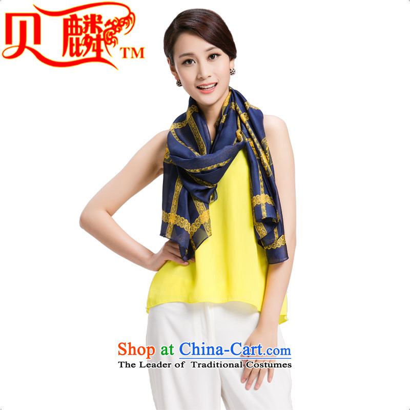 Addis Ababa Chu autumn and winter 2015 new silk scarves female summer sunscreen Shawl ) Solid Color Grid Style 7. Both code of the scarf