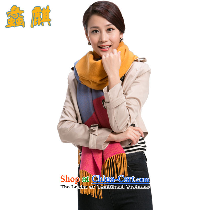 Dr Assembly 2015 autumn and winter new scarf female cashmere shawls large long warm wool grid a style are Code 2.