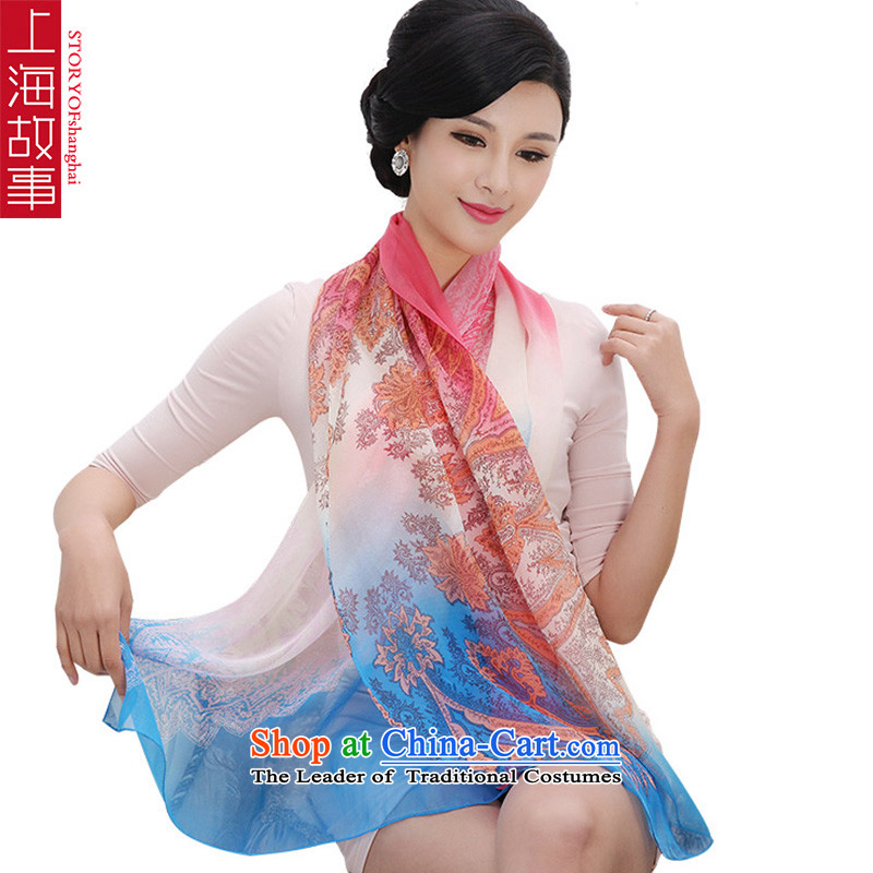 Shanghai Story silk scarves female summer herbs extract shawl scarf female D24