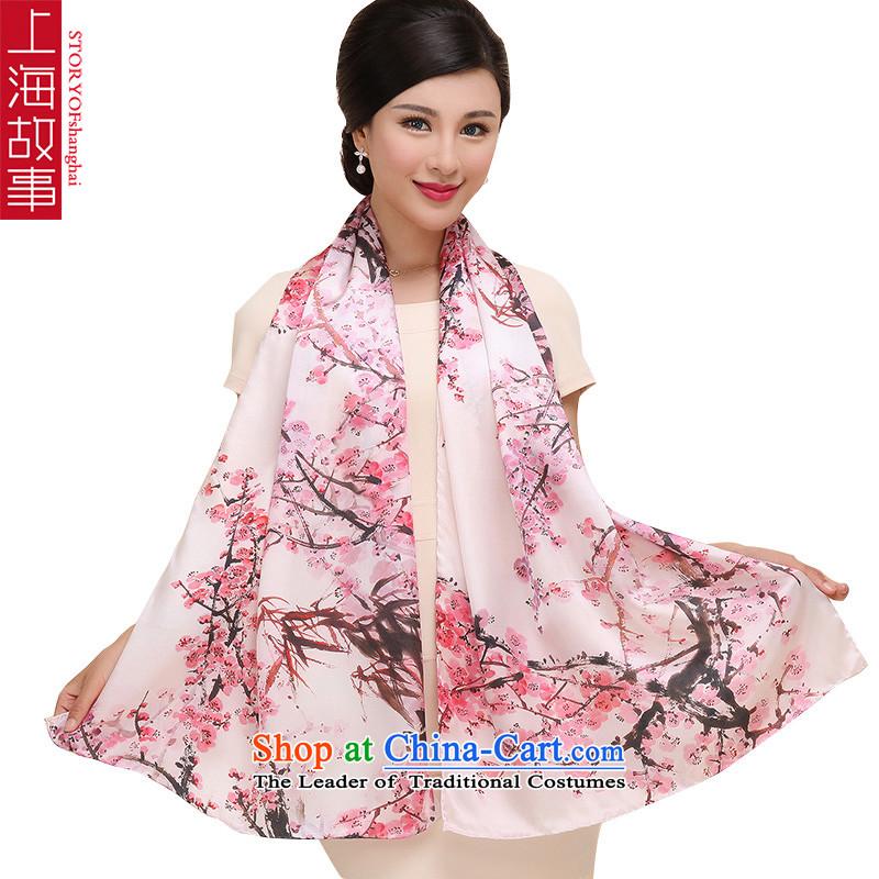 Shanghai Story silk scarves female satin scarf female sunscreen shawl Phillips-head