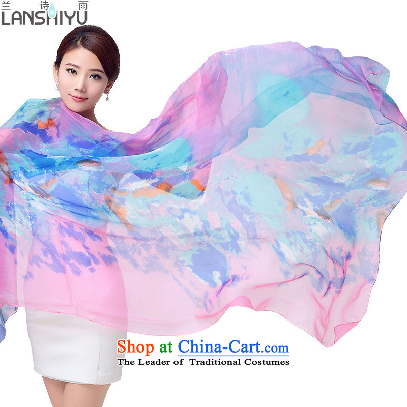 Ho Shih rain silk scarves President Dos Santos silk scarf of autumn and winter masks in the extra-large shawl LSY1151446 girl, Pink