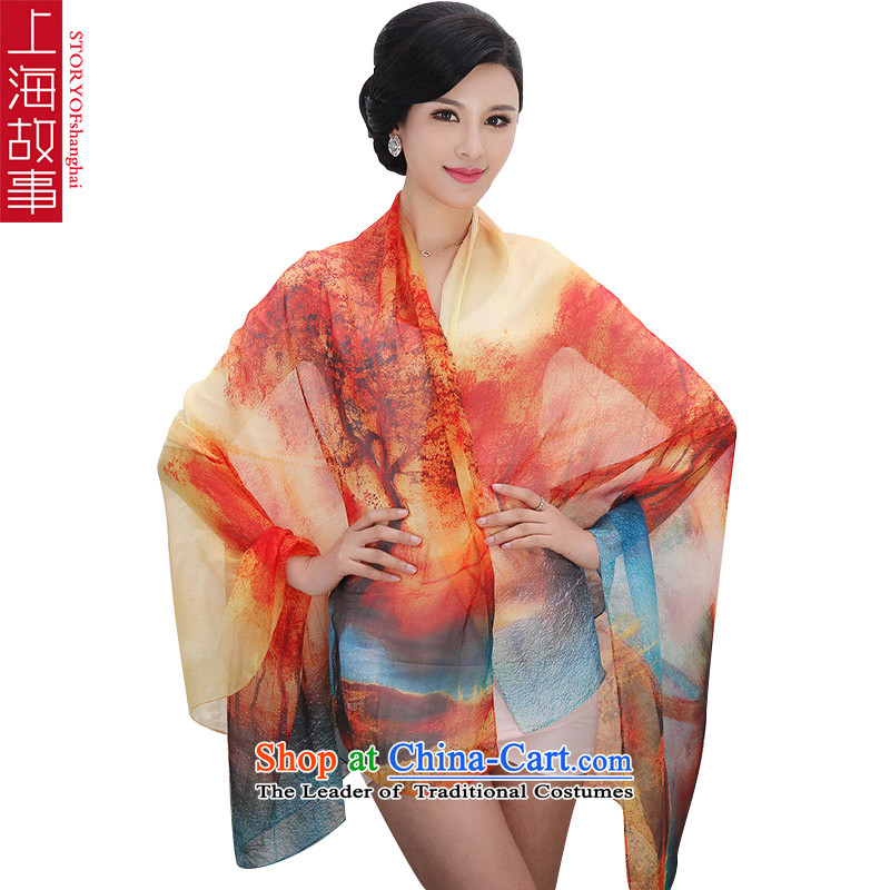 Shanghai Story silk scarves female summer increase herbs extract shawl scarf female sunscreen masks MIRAGE Y04