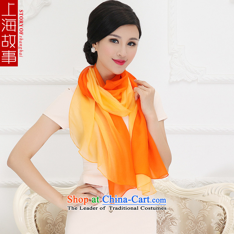Shanghai Story silk scarf autumn and winter Ms. new gradient silk scarfs stylish pendants herbs extract masks in 7#